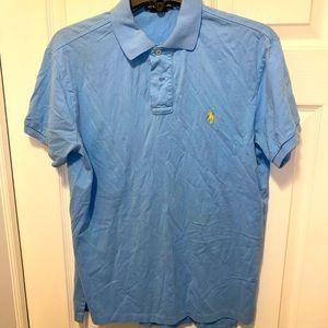 Light Blue/Yellow Ralph Lauren Polo Shirt